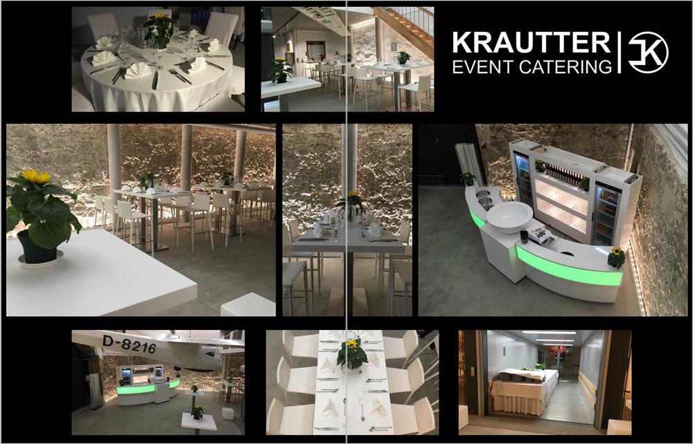 Krautter Eventcatering - Buffetvorschläge Dekoration und Mobiliar